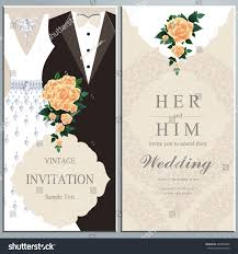 groom and groom wedding card wedding invitation card groom dress stock vector 420065980