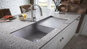 Triple Bowl Kitchen Sinks by Kitchen Sinks Apron Cast Iron Undermount Sink Corner Brown Granite