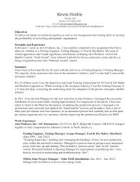 Machinist Resume Examples by Kevin Hinkle Resume