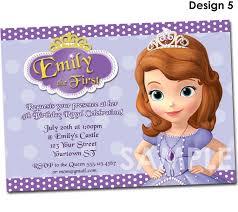 personalized halloween invitations birthday invites stylish sofia the first birthday invitations