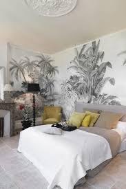 chambre a coucher parentale un papier peint tropical dans la chambre parentale ado leroy merlin