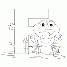 f is for coloring page coloring home