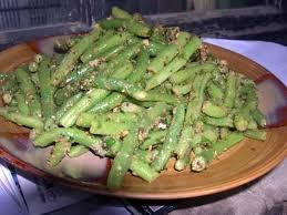 cuisiner des haricots verts frais recette de haricots verts au sésame et à l ail plat indien