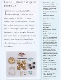 how to make beaded filigree jewelry from the new book bead jewelry