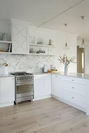 Caesarstone Clamshell Kitchen Countertops Design Ideas - Quartz backsplash
