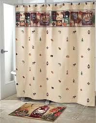 Pictures Of Shower Curtains In Bathrooms Woolrich Woodlands Shower Curtain Accessories Cabin Place