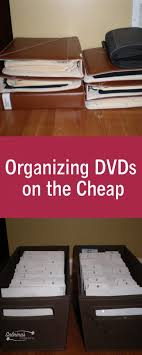 organizing dvds on the cheap sabrina s organizing