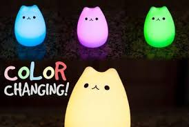 usb cat night light cat night light 7 colors led usb rechargeable pocketpackage