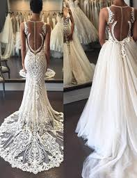 wedding dress with detachable sweep lace wedding dress illusion back with detachable