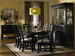 dining room contemporary sweet black dining room decor with two