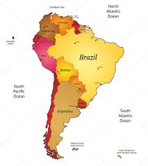 Map America by Map Of Latin America U2014 Stock Vector Ildogesto 12593877