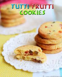 tutti frutti cookies recipe eggless tutti frutti cookies raks