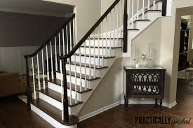 Stair Railings And Banisters How To Gel Stain Ugly Oak Banisters