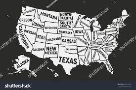 map usa states names poster map usa state names united stock vector 725527582
