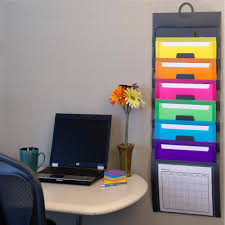 Office Wall Organizer Ideas Amazon Com Smead Cascading Wall Organizer 6 Pockets Letter