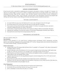 Professional Achievements Resume Sample by Resume Examples Superintendent Resume Template Easy Accurate