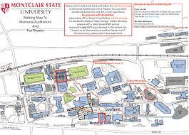 Montclair Campus Map Njdte Tickets Faqs New Jersey Dance Theatre Ensemble