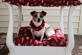 thrifty and nifty end table turned dog bed