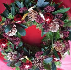 christmas wreaths made from natural foliage