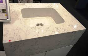 silestone showed off a visually seamless integrated quartz sink