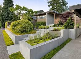 landscape modern landscape ideas for front of house window