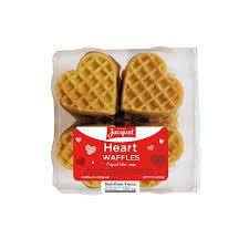 heart shaped waffles x16 jacquet bakery