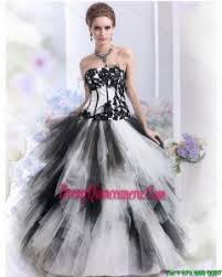 black and white quinceanera dresses white and black quinceanera dresses 2018 for less