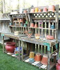 remodelando la casa re purposing a playset into a potting bench