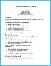 server resume example best server resume example livecareer