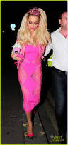 Pink Halloween Costumes Rita Ora Looks Pretty In Pink As Barbie For Halloween Photo
