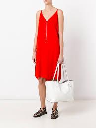 t by alexander wang v neck shift dress designer colour 624 scarlet