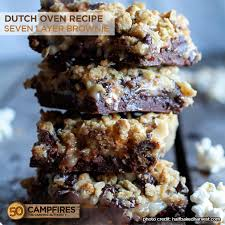 dutch oven seven layer brownie 50 campfires