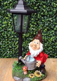 Garden Nome by Maison U0026 Garden Gnome With Watering Can Solar Powered Garden