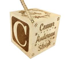 personalized baby block ornament custom engraved wood baby birth block 2 add personalized text