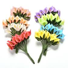 artificial flowers 12head artificial flowers 8 colors calla bridal wedding