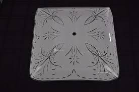 Glass Ceiling Light Covers Vintage Large Frosted Square Glass Ceiling Light Cover What U0027s It