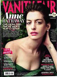 Magazine Vanity Fair Anne Hathaway Vanity Fair Italy Magazine January 2013 Gotceleb