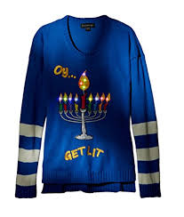Ugly Christmas Sweater With Lights Blizzard Bay Women U0027s Oy Get Lit Chanukah Ugly Christmas Sweater