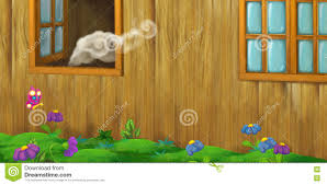 Backyard Cartoon Cartoon Background Of Wooden Wall Of Traditional House Some Kind