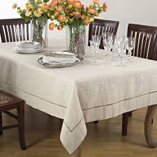 Dining Room Tablecloths by Amazon Com Handmade Hemstitch Design Natural Tablecloth One