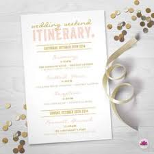 wedding itinerary template for guests wedding day itinerary for guests printable editable blank