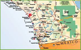 Road Maps Usa by San Diego Area Road Map