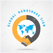 handshake abstract sign vector design template business creative