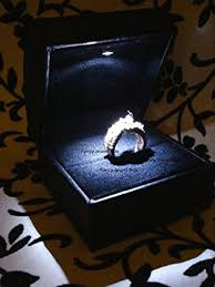 engagement ring boxes that light up amazon com new fancy black leather suede led lighted engagement