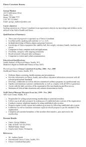Sample Fitness Resume by Amusing Fitness Consultant Resume 44 In How To Make A Resume With