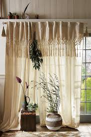 Macrame Home Decor by Knotted Macrame Curtain Anthropologie