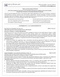 exles on resumes director of finance resume exle