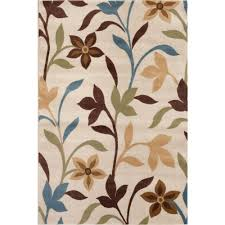 Modern Design Area Rugs by World Rug Gallery Modern Contemporary Leaves Design Cream 3 Ft 3