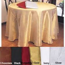shimmery 90 inch sheer tablecloth free shipping on orders