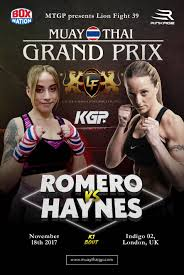 haynes v romero announced for mtgp presents lion fight 39